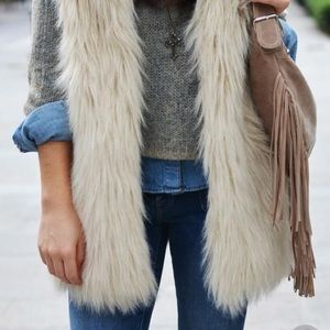 BNWT Gorgeous Faux Fur Vest